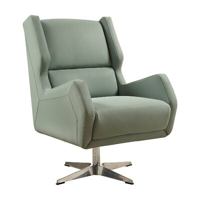 Laffoon Contemporary Swivel Wingback Chair Upholstery: Stone Gray