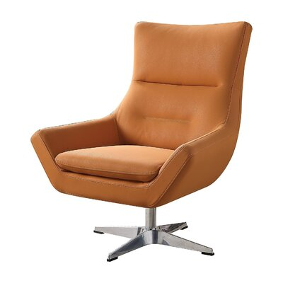 Vivas Contemporary Swivel Armchair Upholstery: Orange