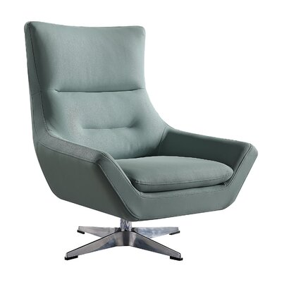 Vivas Contemporary Swivel Armchair Upholstery: Stone Gray