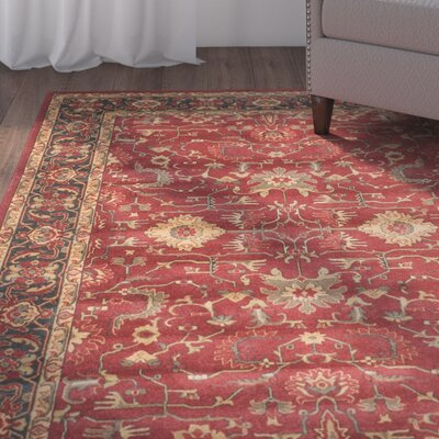 Coleraine Red Area Rug Rug Size: Rectangle 51 x 77