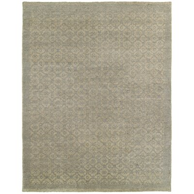 Mccurley Patterned Hand-Knotted Wool Gray Area Rug Rug Size: Rectangle 4 x 6
