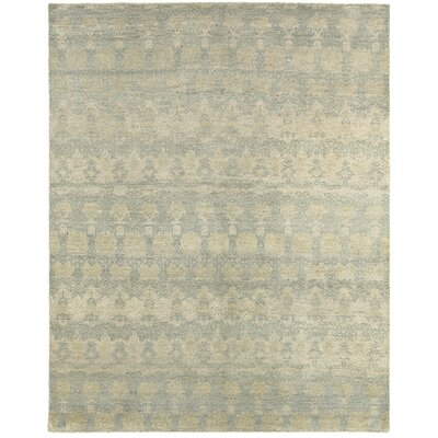 Mccurley Distressed Hand-Knotted Wool Gray/Blue Area Rug Rug Size: Rectangle 56 x 86