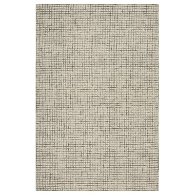 Mccurry Weave Hand-Hooked Wool Navy/Ivory Area Rug Rug Size: Rectangle 8 x 10