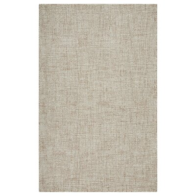 Mccurry Hand-Hooked Wool Taupe/Teal Area Rug Rug Size: Rectangle 8' x 10'