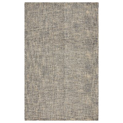 Mccurry Hand-Hooked Wool Charcoal/Gold Area Rug Rug Size: Rectangle 5' x 7'9