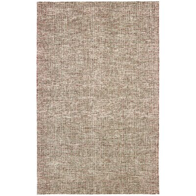 Mccurry Hand-Hooked Wool Brown/Red Area Rug Rug Size: Rectangle 9' x 12'