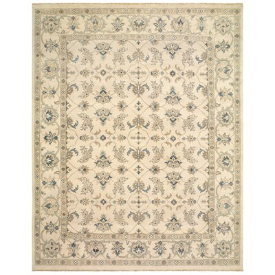 Robinson Hand-Knotted Wool Silver Area Rug Rug Size: Rectangle 8 x 10