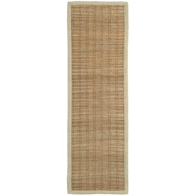 Chapelcrest Hand-Woven Tan Area Rug Rug Size: Runner 26 x 79