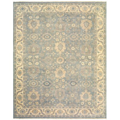 Robinson Royal Hand-Knotted Wool Light Blue/Ivory Area Rug Rug Size: Rectangle 8 x 10