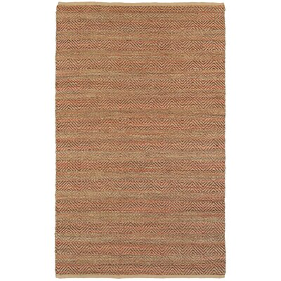 Seacroft Hand-Woven Burgundy Area Rug Rug Size: Rectangle 8 x 10