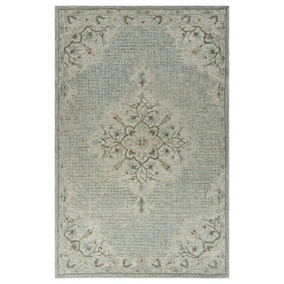 Weehawken Hand-Tufted Blue Area Rug Rug Size: Rectangle 8 x 10