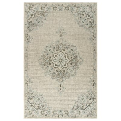 Weekes Hand-Tufted Ivory Area Rug Rug Size: Rectangle 9 x 12