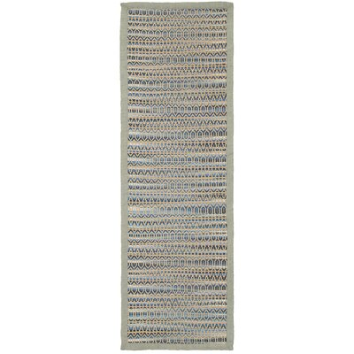 Chanler Striped Hand-Woven Blue Area Rug Rug Size: Runner 26 x 79