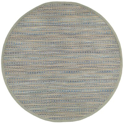 Chanler Striped Hand-Woven Blue Area Rug Rug Size: Round 8
