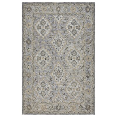 Eulalia Hand-Tufted Blue Area Rug Rug Size: Rectangle 9 x 12