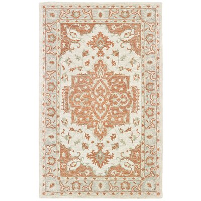 Bellville Hand-Tufted Orange/Gray Area Rug Rug Size: Rectangle 5 x 79