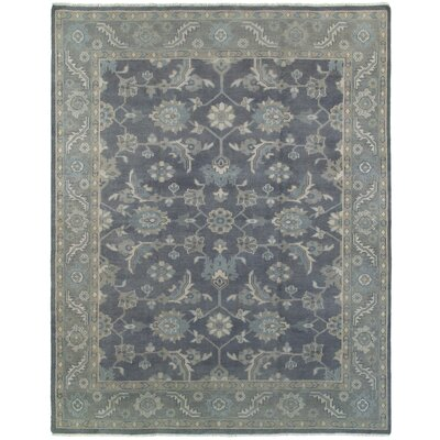 Mcmanis Hand-Knotted Wool Charcoal Area Rug Rug Size: Rectangle 10 x 14