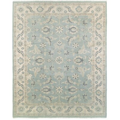 Mcmanis Hand-Knotted Wool Light Blue Area Rug Rug Size: Rectangle 12 x 15