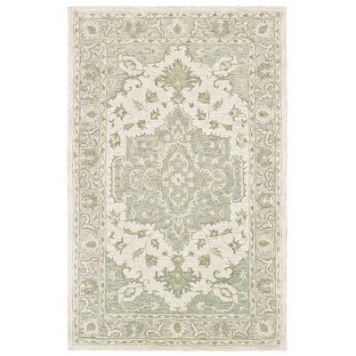 Alosio Hand-Tufted Sea Green Area Rug Rug Size: Rectangle 8 x 10
