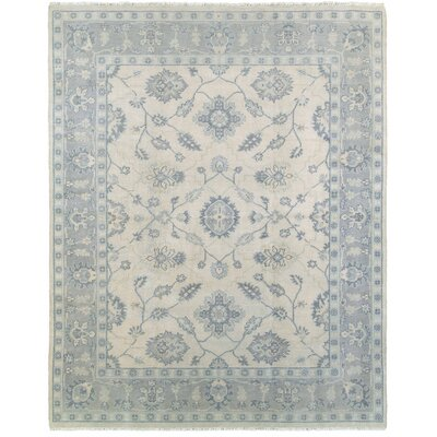 Mcmanis Hand-Knotted Wool Beige/Blue Area Rug Rug Size: Rectangle 8 x 10