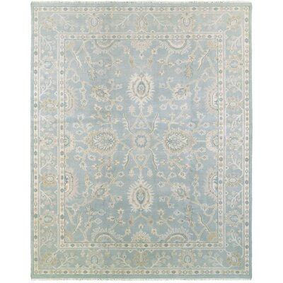 Mcmanis Hand-Knotted Wool Blue Area Rug Rug Size: Rectangle 12 x 15