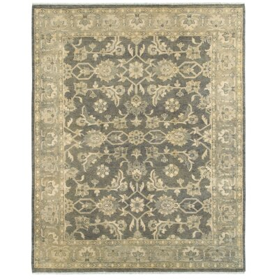Mcmanis Hand-Knotted Wool Charcoal/Brown Area Rug Rug Size: Rectangle 9 x 12