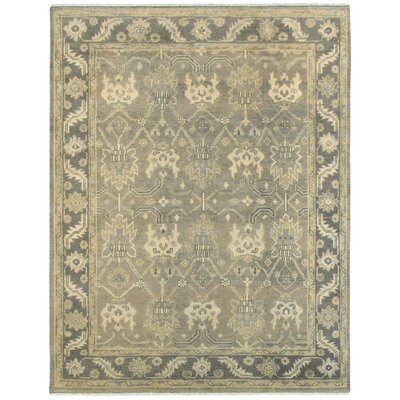 Mcmanis Hand-Knotted Wool Charcoal/Gray Area Rug Rug Size: Rectangle 10 x 14