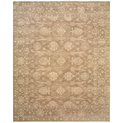 Robinson Hand-Knotted Wool Camel Area Rug Rug Size: Rectangle 9 x 12