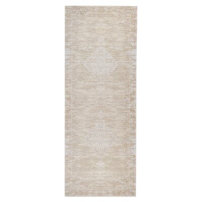 Axelrod Persian Ethereal Beige Area Rug Rug Size: Runner 28 x 7