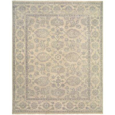 Robinson Classic Hand-Knotted Wool Silver Area Rug Rug Size: Rectangle 9 x 12