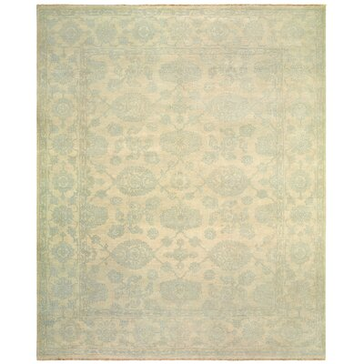 Robinson Hand-Knotted Wool Light Blue Area Rug Rug Size: Rectangle 9 x 12