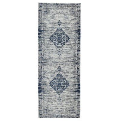 Axelrod Navy Area Rug Rug Size: Runner 28 x 7