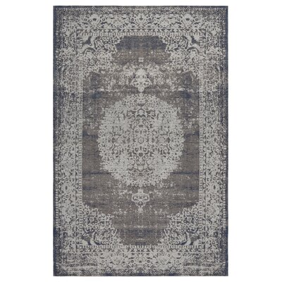 Axelrod Oriental Gray Area Rug Rug Size: Rectangle 78 x 99