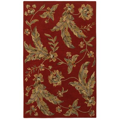 Janel Hand-Tufted Wool Red Area Rug Rug Size: Rectangle 89 x 119