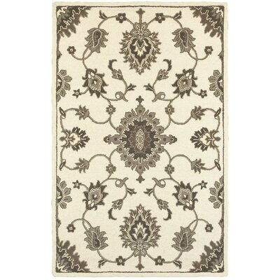 Janel Arabesque Hand-Tufted Wool Beige/Brown Area Rug Rug Size: Rectangle 89 x 119