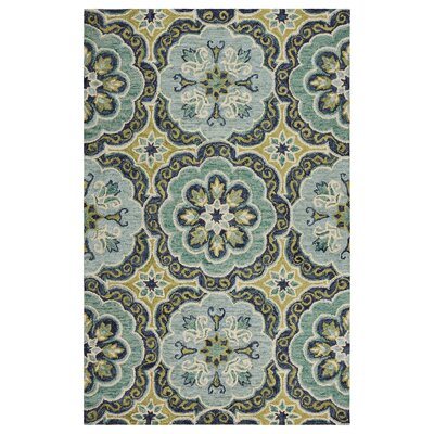 Rackley Fantastic Floret Hand-Tufted Wool Green Area Rug Rug Size: Rectangle 5 x 79