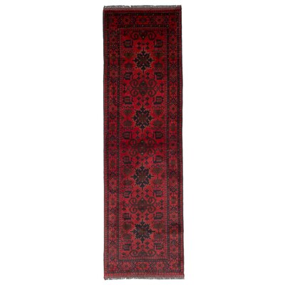 One-of-a-Kind Montelongo Finest Hand-Knotted Wool Red Area Rug