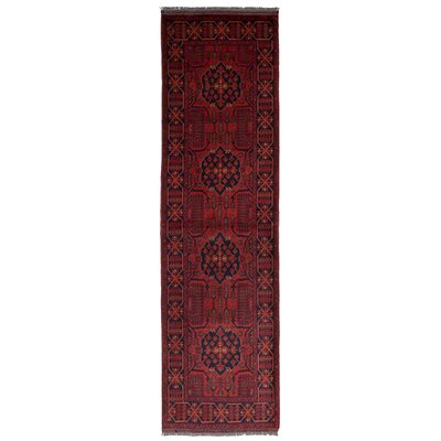 One-of-a-Kind Montelongo Khal Mohammad Finest Hand-Knotted Wool Red Area Rug
