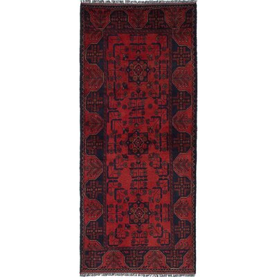 One-of-a-Kind Pinegar Finest Hand-Knotted Wool Red Area Rug