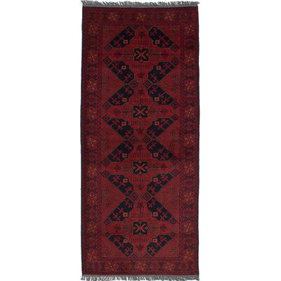 One-of-a-Kind Pinegar Finest Hand-Knotted Wool Dark Red Area Rug