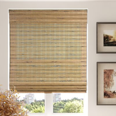 Aymeric Semi-Sheer Brown Roman Shade Blind Size: 41 W X 60 L
