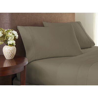 Sayles Garment Washed 100% Cotton Sheet Set Size: Twin, Color: Khaki