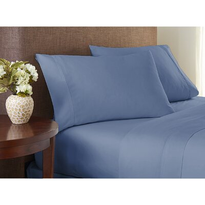 Sayles Garment Washed 100% Cotton Sheet Set Size: Full/Double, Color: Med Blue