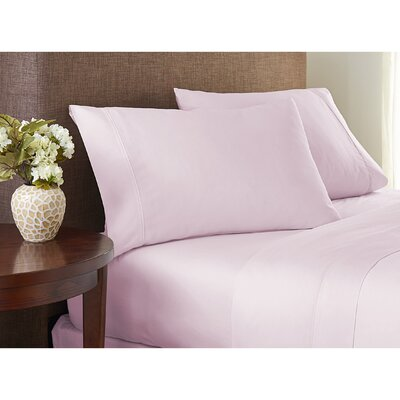 Sayles Garment Washed 100% Cotton Sheet Set Size: Full/Double, Color: Light Pink