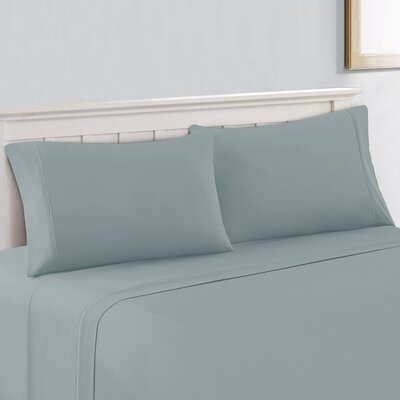 Saville 400 Thread Count 100% Cotton Sheet Set Size: King, Color: Sea Glass