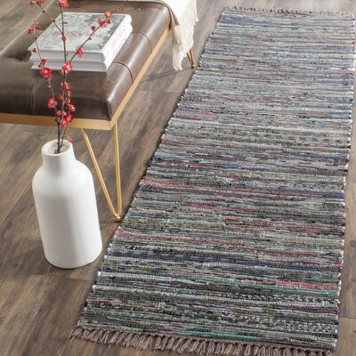 Hatteras Contemporary Hand-Woven Grey/Red/Green Area Rug Rug Size: Runner 23 x 6
