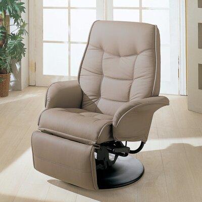 Voorhies Manual Swivel Recliner Upholstery: Beige