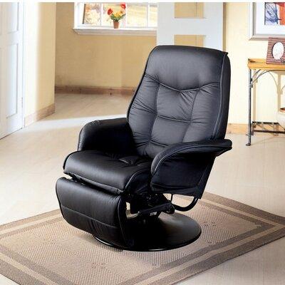Voorhies Manual Swivel Recliner Upholstery: Black