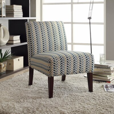 Icenhour Ultra Modern Side Chair Upholstery: Blue/Beige