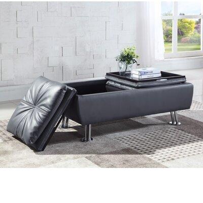 Dillup-Jones Storage Ottoman Upholstry: Gray